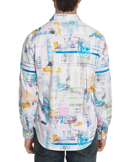 Robert Graham Men's Stagecoach Graphic Sport Shirt