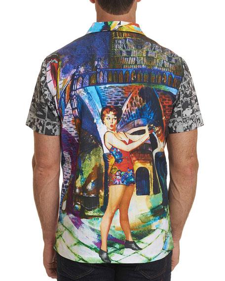Robert Graham Men's The Flashback Short-Sleeve Graphic Sport Shirt