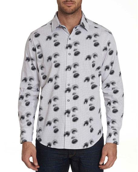 Robert Graham Men's Silent Scream Graphic Sport Shirt