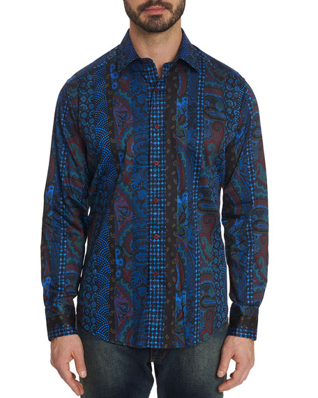 Robert Graham Men's Brasco Graphic Sport Shirt