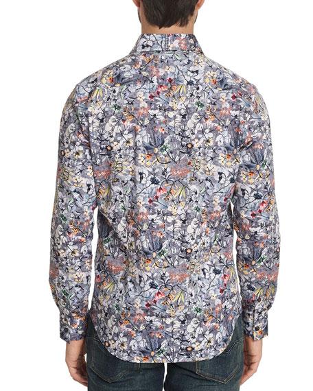 Robert Graham Men's Greene Faded Floral Stretch-Cotton Sport Shirt