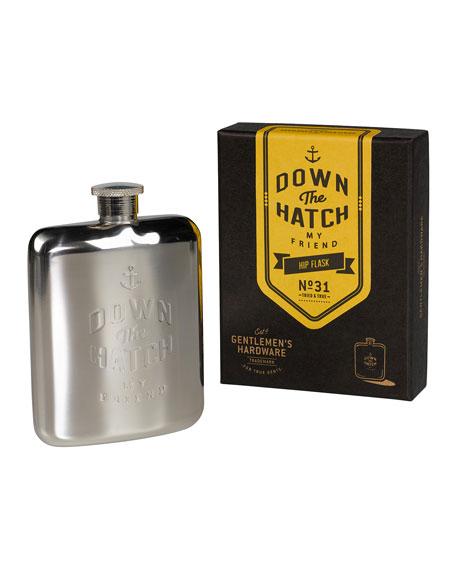 Gentlemen?s Hardware Men's Down the Hatch Hip Flask