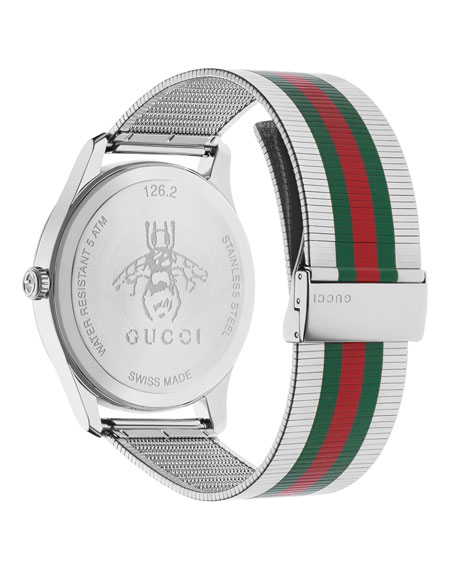 Gucci Men's Signature Web Stainless Steel Bracelet Watch