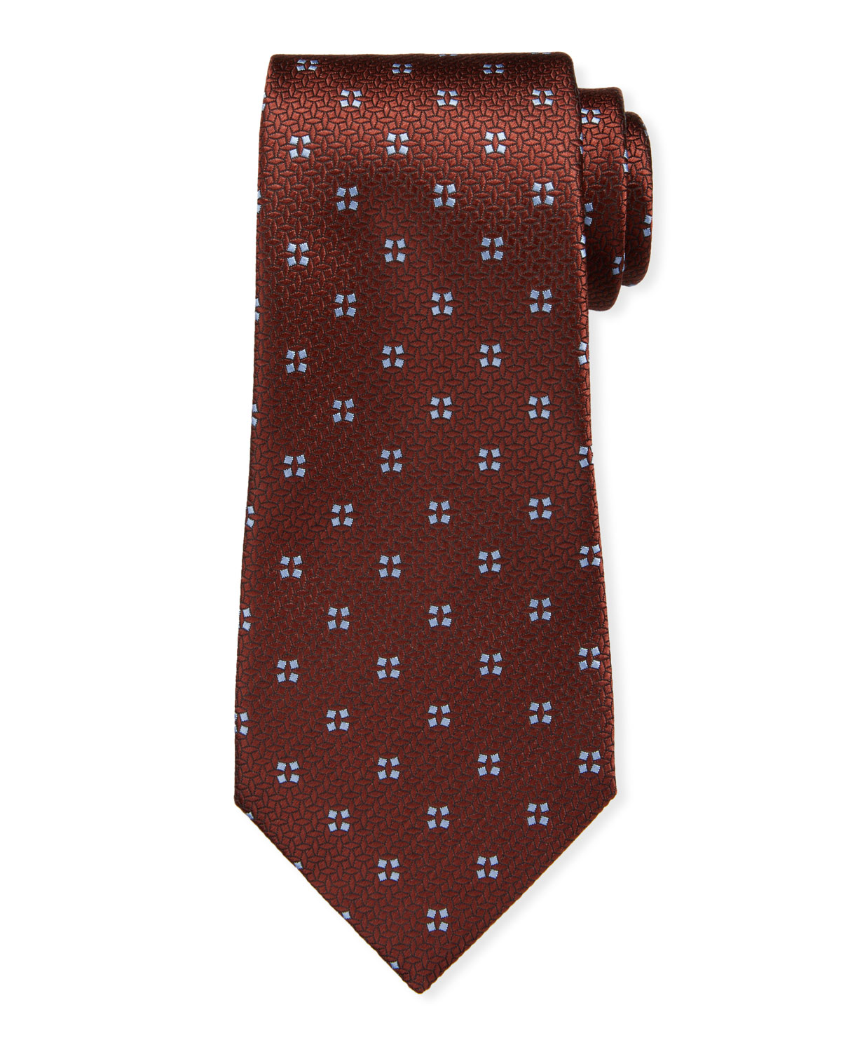 Ermenegildo Zegna Men's Four Micro-Square Silk Tie