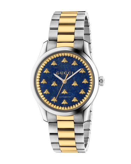 Gucci Men's Signature Bee Automatic Two-Tone Bracelet Watch