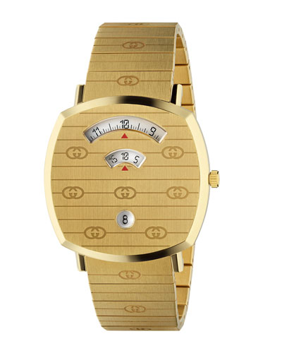 Men's Gucci Grip Square 3-Window Interlocking G Bracelet Watch
