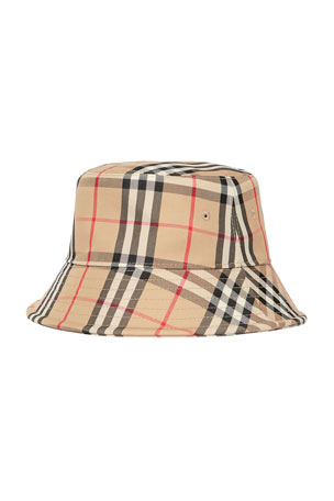 Burberry Men's Vintage Check Twill Bucket Hat