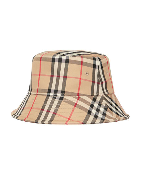 Burberry Men's Vintage Check Twill Bucket Hat
