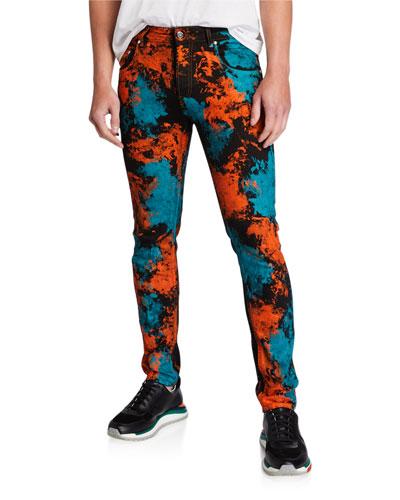 Men's Painted Denim Pants