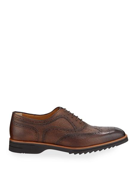 di Bianco Men's Reverse Sombrero Nuvolato Brogue Oxford Shoes
