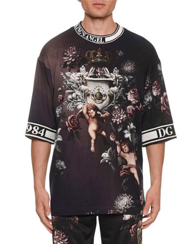 Men's Floral Cherub T-Shirt