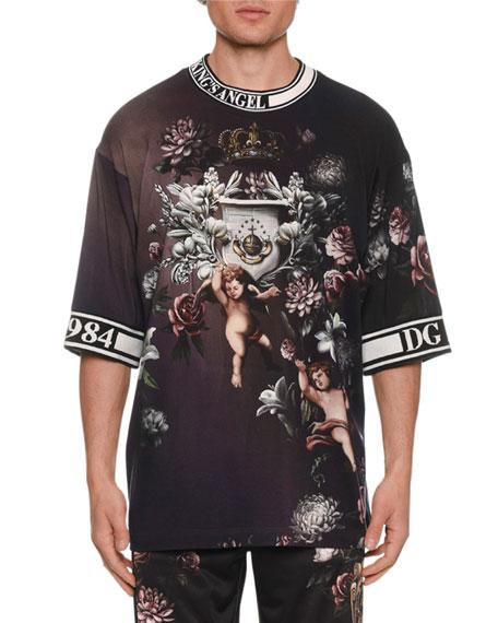 Dolce & Gabbana Men's Floral Cherub T-Shirt