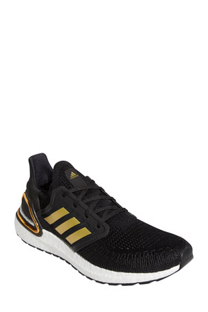 Adidas Men's Ultraboost 20 Metallic Primeknit Runner Sneakers