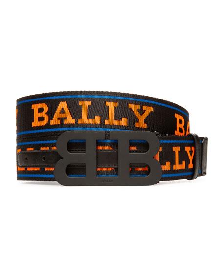 Bally Men's Mirror 40mm Reversible Logo Belt