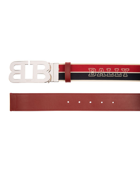 Image 2 of 2: Men's Mirror 40mm Reversible Logo Belt