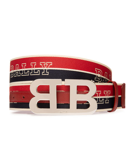 Image 1 of 2: Men's Mirror 40mm Reversible Logo Belt