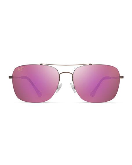 Maui Jim Men's Lava Tube Polarized Lightweight Titanium Sunglasses