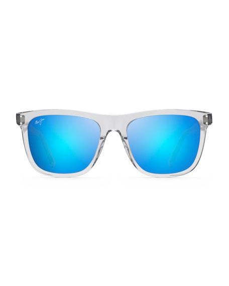 Maui Jim Men's Velzyland Polarized Transparent Sunglasses