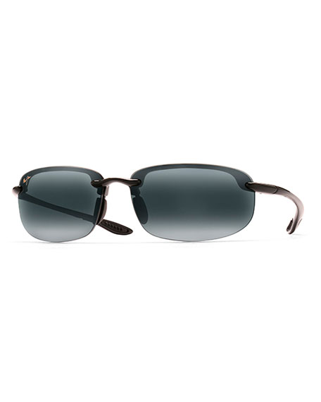 Maui Jim Men's Hookipa Reader Polarized Half-Rim Sunglasses, +1.5