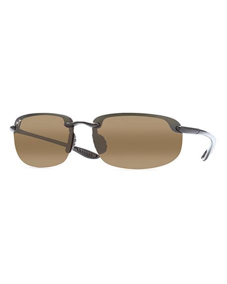 Maui Jim Men's Hookipa Polarized Half-Rim Sunglasses