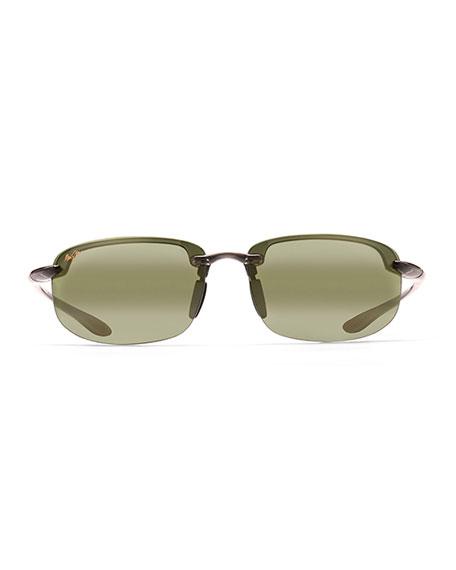 Maui Jim Men's Hookipa Reader Polarized Half-Rim Sunglasses, +1.5