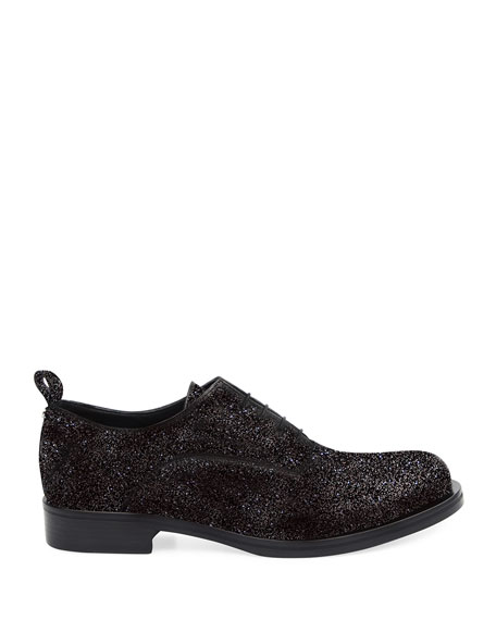 Image 3 of 4: Costume National Men's Glitter Oxford Shoes