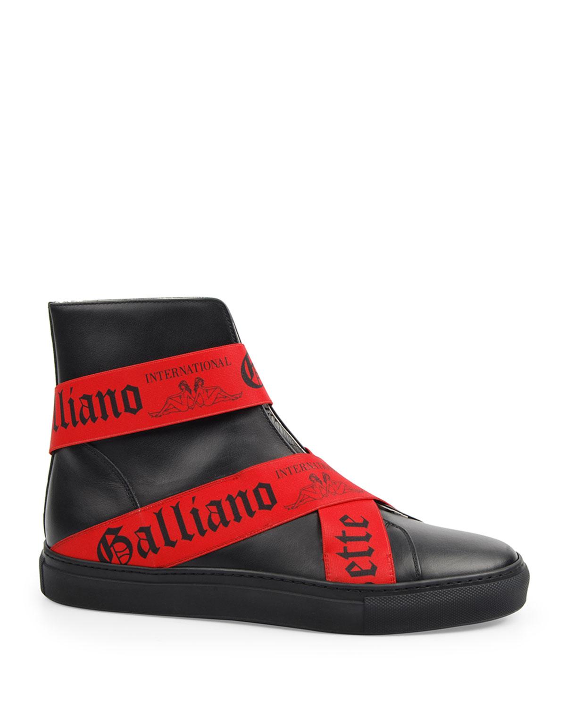 John Galliano Paris Men's Leather High