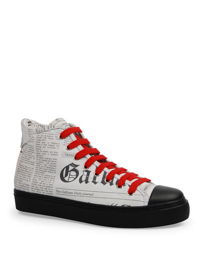 Men's Leather Gazette High-Top Sneakers