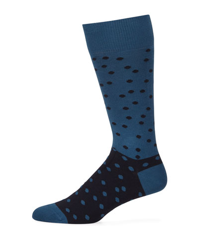 Men's Two-Tone Dotted Socks