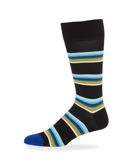 Paul Smith Men's Lion Stripe Knit Socks