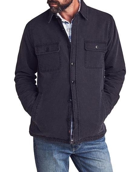 Faherty Men's Blanket-Lined Twill Jacket