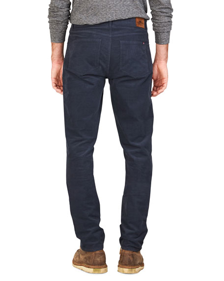 Faherty Men's Stretch-Corduroy 5-Pocket Pants, Navy