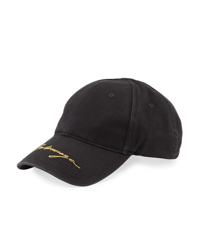 Men's Embroidered Signature Baseball Hat