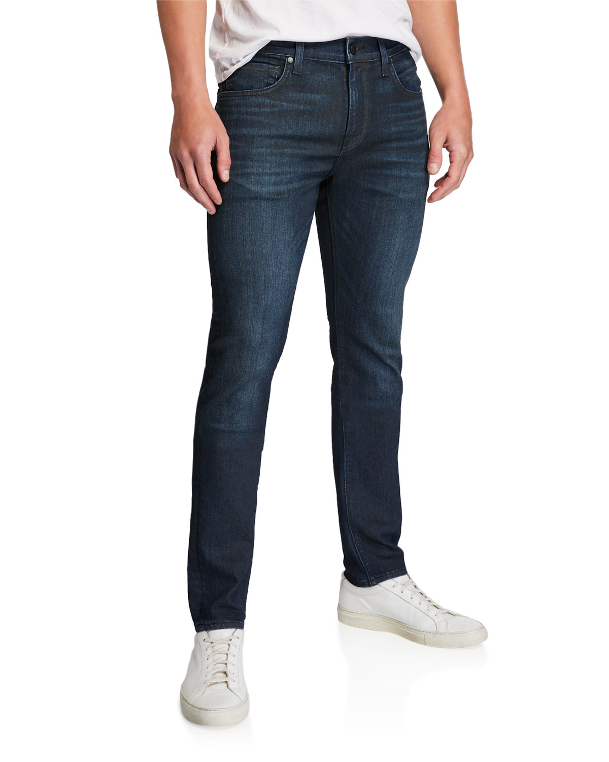 7 for all mankind Men's Paxtyn Dark-Wash Skinny Jeans