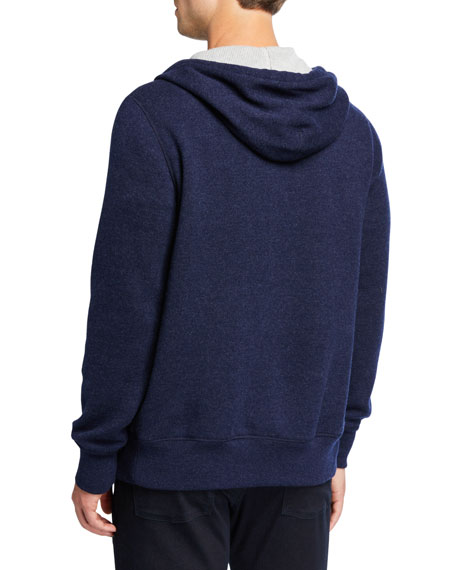 Image 3 of 3: Loro Piana Men's Snuggly Cashmere Hoodie Jacket