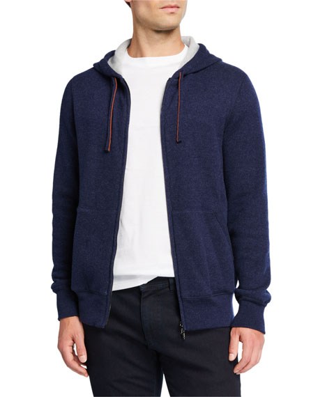 Image 1 of 3: Loro Piana Men's Snuggly Cashmere Hoodie Jacket