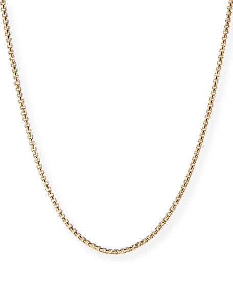 "David Yurman Men's 18k Yellow Gold Box Chain Necklace, 26"""