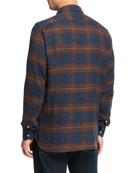 Loro Piana Men's Arthur Ennis Plaid Cotton Sport Shirt