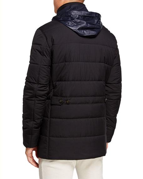 Loro Piana Men's Winter Voyager Quilted Winter Coat