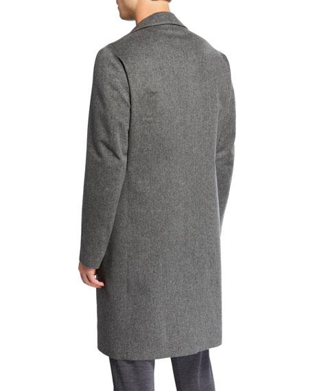 Loro Piana Men's Chesterfield Solid Cashmere Topcoat