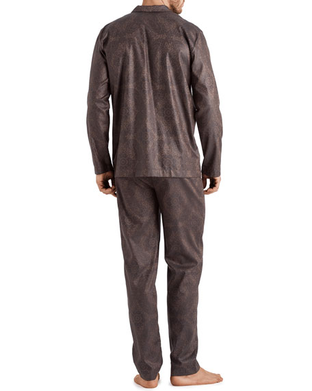 Hanro Men's Select Paisley Medallion Cotton Pajama Set