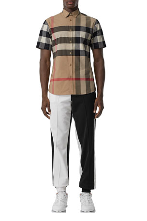 Burberry Men's Somerton Check Short-Sleeve Sport Shirt