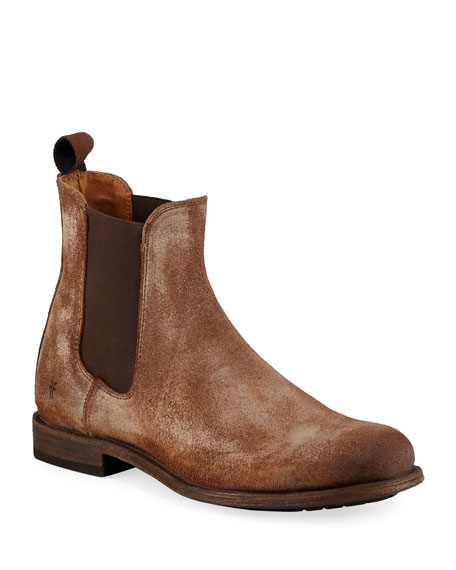 Frye Men's Tyler Rustic Leather Chelsea Boots