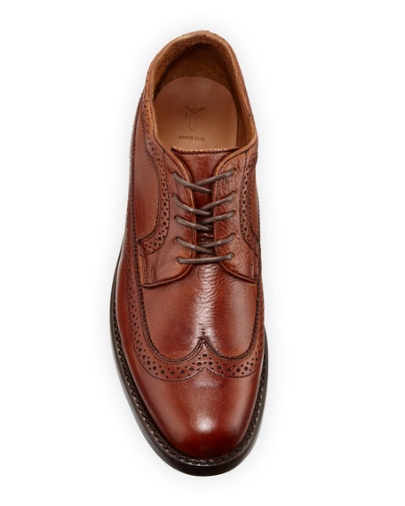 Frye Men's Bowery Leather Wing-Tip Oxfords