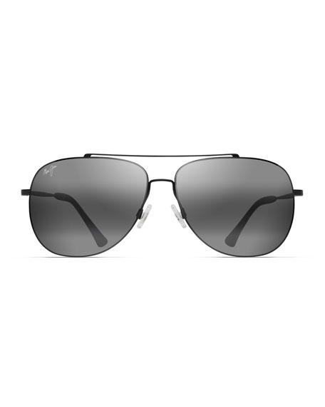 Maui Jim Men's Cinder Cone Polarized Titanium Sunglasses