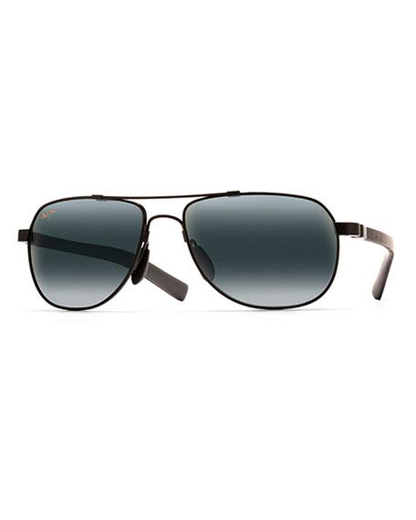 Maui Jim Men's Guardrails MauiFlex Polarized Aviator Sunglasses