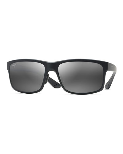 Men's Pokowai Arch Polarized Rectangle Sunglasses