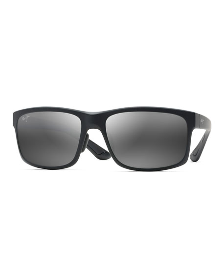 Image 1 of 2: Maui Jim Men's Pokowai Arch Polarized Rectangle Sunglasses