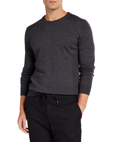 Men's Shearer Heathered Knit Wool Sweater