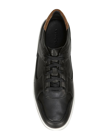 Vince Men's Mayer-2 Smooth Leather Sneakers with Contrast Suede